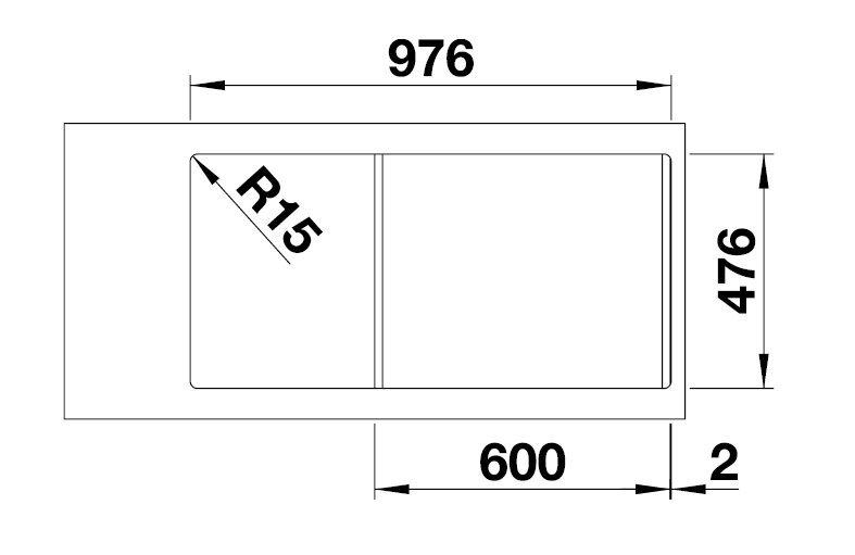 blanco lantos 6 s if. Black Bedroom Furniture Sets. Home Design Ideas